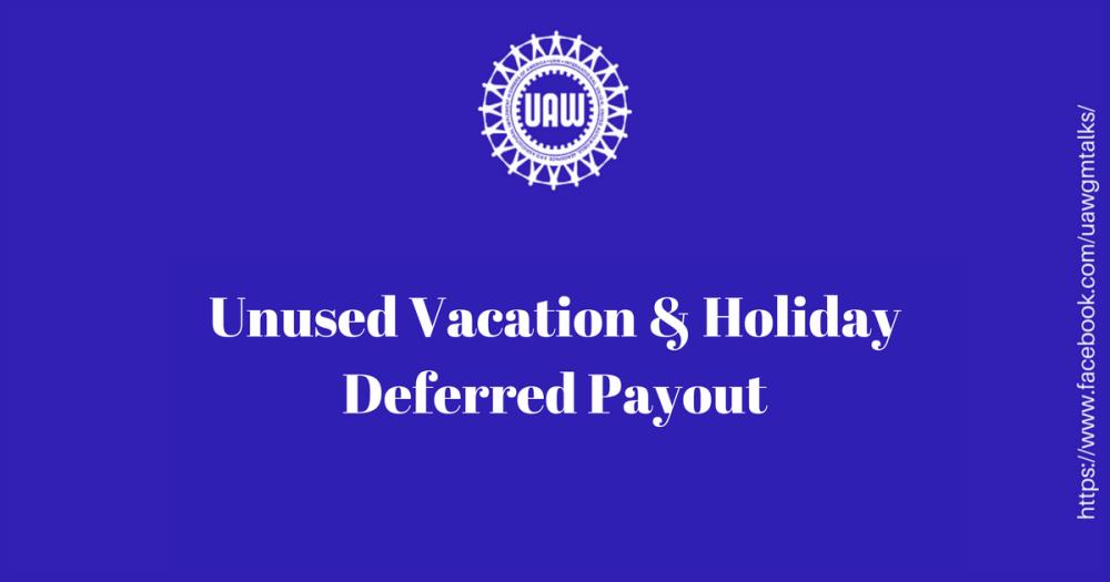 unused vacation