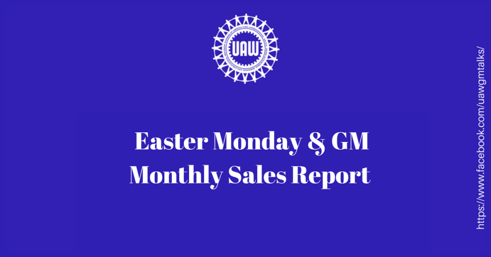 Easter GM Sales