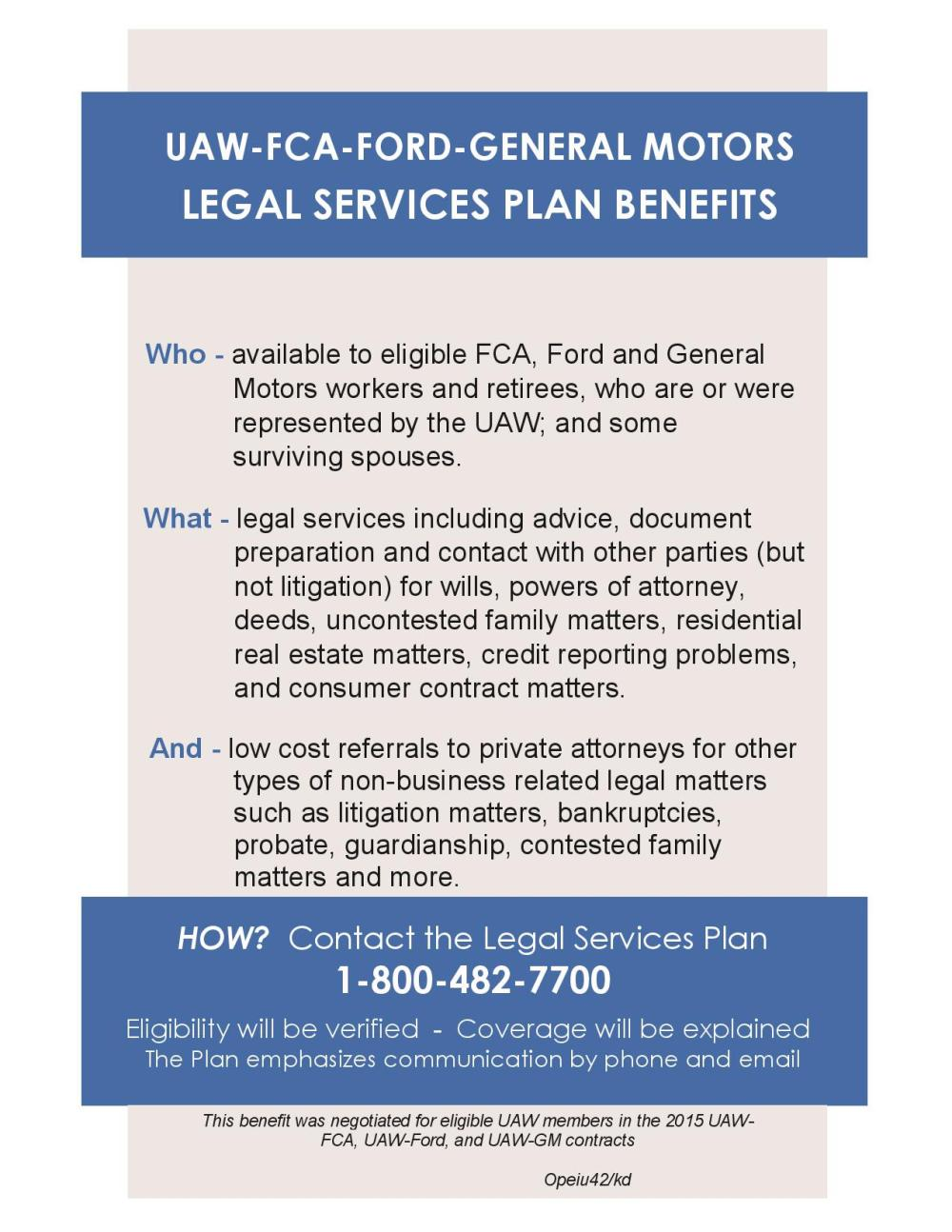 UAW – FCA – Ford – GM Legal Services Plan Benefits | uawgmtalks